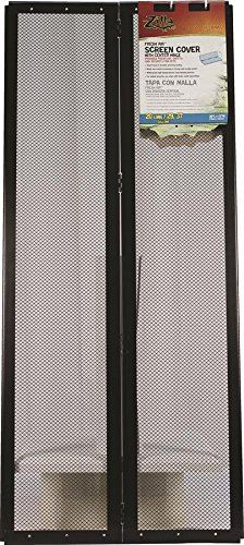 r-zilla-srz100011802-fresh-air-screen-cover-with-center-hinge-for-pet-cages-30-1-4-by-12-7-8-inch-bl