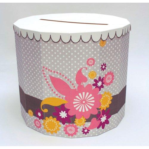 "Creative Converting I Do Cake, Shaped Card Box, 12"" Diameter"