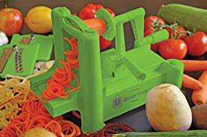 Brieftons Tri-Blade Spiralizer: Vegetable Spiral Slicer with Strongest-Heaviest Guarantee,... by Brieftons