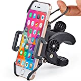 Bike & Motorcycle Phone Mount - For iPhone 8 (X, 7, 5, 6 Plus), Samsung Galaxy or any Cell Phone - Universal Handlebar Holder for ATV, Bicycle and Motorbike. +100 to Safeness & Comfort