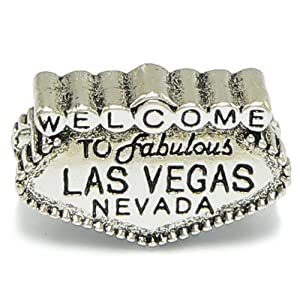 Amazon.com: BIG & BOLD Las Vegas Sign Charm - Compatible with Major