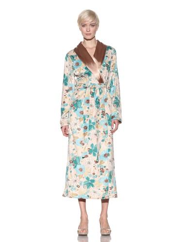 Luca Charles Women's Delilah Reversible Robe, Green, XS - 1