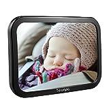 Trèsutopia Appleye Baby-Autospiegel mit 360° einstellbarem Winkel für rückwärtsgerichtete Kindersitze