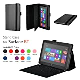 Elsse (TM) Premium Folio Case with Stand for Microsoft Surface RT / Surface 2 (Does not fit Surface Pro Version / Keyboard and Tablet NOT included) (Surface 2 / Surface RT, Black)