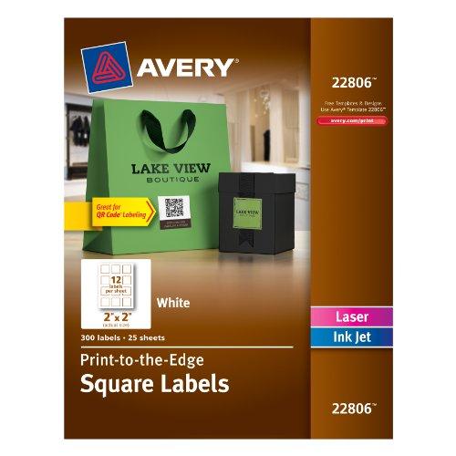 Purchase Avery Permanent Square Label White Inkjet Laser 2