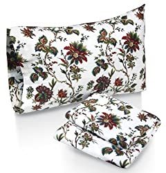 Tribeca Living Rainforest Printed Deep Pocket Flannel Sheet Set with Pillowcase, Twin