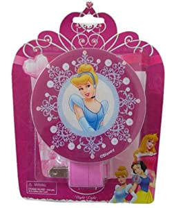 Disney Princess Night Light Pink Cinderella, Belle, Snow White (single; design chosen at random)