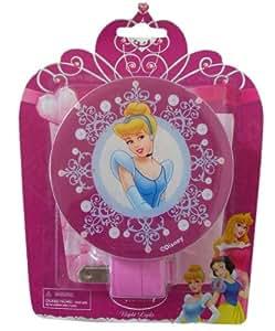 Disney Princess Night Light Pink Cinderella, Belle, Snow White (single; design chosen at random)