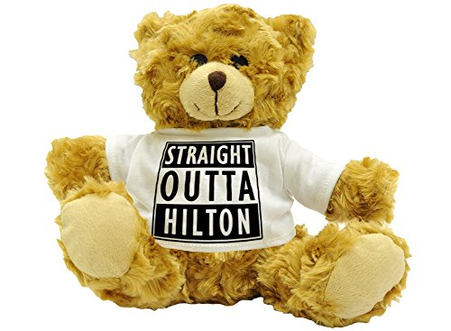straight-outta-hilton-stylised-cute-plush-teddy-bear-gift-approx-22cm-high