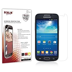 Berlin Gear Samsung Galaxy S4 Mini High Definition Crystal Clear Screen Protectors with Anti-Scratch Coating (3-Pack)