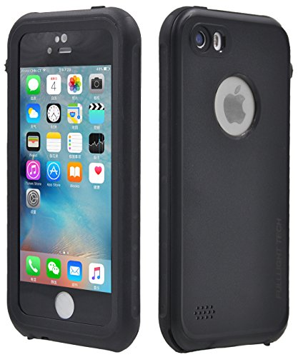 FULLLIGHT TECH iPhone 5S case,iPhone SE Case Waterproof Shockproof Full Body Cases Cover for iPhone 5/5S/SE with Touch ID & Built-in Screen Protector (Black) (Jack Frost Iphone 5s Case compare prices)