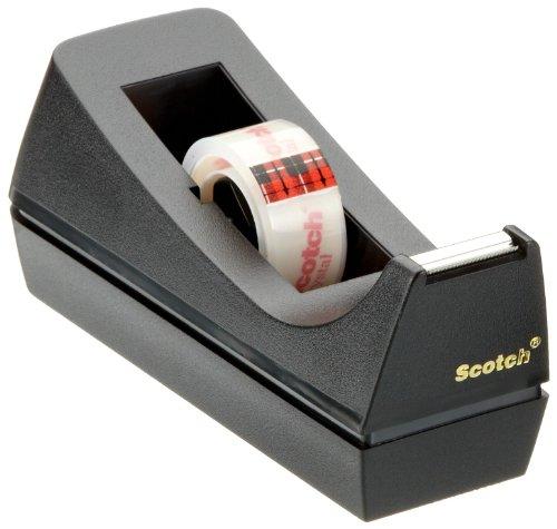 Scotch-83980-Tischabroller-inkl-1-Rolle-Crystal-Klebeband-19mm-x-10m-schwarz