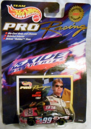 Hot Wheels 1997 1st Edition Jeff Burton #99 Exide Batteries Pro Racing Collector 1:64 Scale Die Cast Car - 1