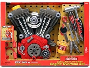 Amazon.com: MY FIRST CRAFTSMAN TOY V TWIN MOTOR OVERHAUL PLAY SET ...