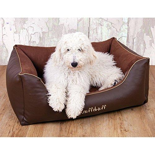 knuffelwuff dog bed ray xxl 120 x 85cm brown knuffelwuff
