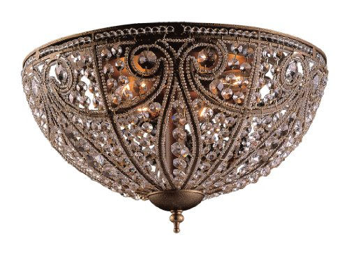 B000U5KB6S Artistic LightingElizabethan 6-Light Flush-Mount Ceiling Fixture, Dark Bronze