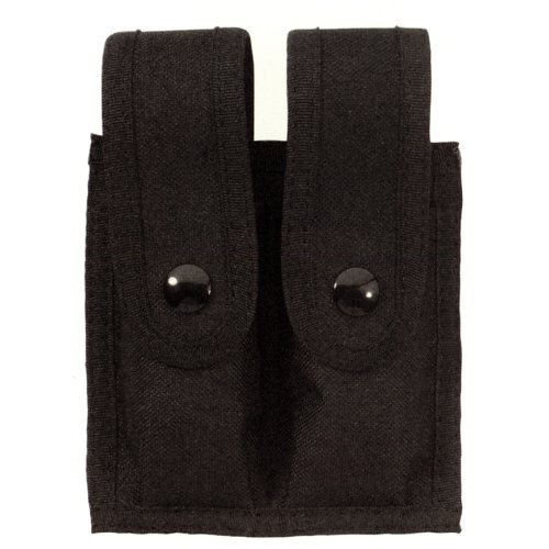 POLICE NYLON DOUBLE MAG MAGAZINE CLIP DUTY BELT HOLDER CASE, MOUNTS BOTH HORIZONTALLY OR VERTICALLY !! UNIVERSAL SIZE FITS MOST CLIPS !!