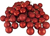 "16ct Red Hot Shatterproof 4-Finish Christmas Ball Ornaments 3"" (75mm)"