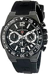 Swiss Legend Men's 14086SM-BB-01-SA Opus Analog Display Swiss Quartz Black Watch