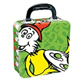 Vandor 17470 Dr. Seuss Green Eggs and Ham Square Tin Tote, Multicolored