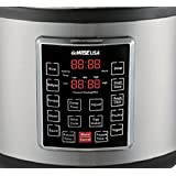 GoWISE USA GW22637 4th-Generation Electric Pressure Cooker with rice scooper, and measuring cup, 14 QT (Color: Silver, Tamaño: 14-QT)