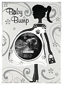 Malden Baby Bump Metal Baby Memories Picture Frame, 2 1/2