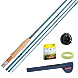 Redington Crosswater Outfit Reel, Line Weight-6, 9-Feet, 4-Piece, Blue