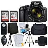 Nikon COOLPIX P900 Digital Camera + Transcend 2x 32GB Memory Card(64GB) + Wireless Remote + Digital Camera/Video Case + Cleaning Kit + Complete Accessory Bundle - International Version (No Warranty)