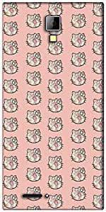 Snoogg Cute kitty formation Designer Protective Back Case Cover For Micromax Canvas Express A99