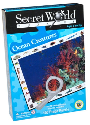 Cheap University Games Secret World Ocean Creatures Jigsaw Puzzle 100pc (B000087BE5)