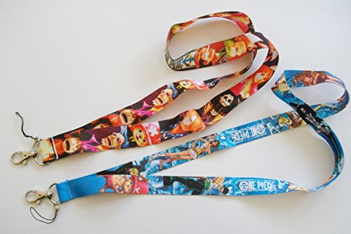 2-pc-Anime-One-Piece-Luffy-Characters-Phone-Key-Chain-LANYARD-Set