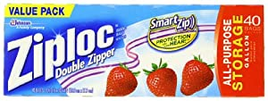 Ziploc Storage Bag, Gallon Value Pack, 40-Count(Pack of 3)