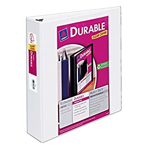 Avery Durable View Binder with 2-Inch Slant Ring, Holds 8.5 x 11-Inch Paper, White, 1 Binder (17032)
