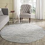 Safavieh Rag Rug Collection RAR121A Hand Woven Grey Cotton Round Area Rug (6 Diameter)