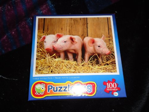 Puzzlebug 100 Piece Jigsaw Puzzle Three Little Pigs by LPF