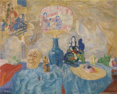 The High Quality Polyster Canvas Of Oil Painting 'James Ensor - Still Life With Chinoiseries, 1907' ,size: 18x23 Inch / 46x57 Cm ,this Imitations Art DecorativePrints On Canvas Is Fit For Basement Decoration And Home Decoration And Gifts (Upright Elephant Ear Bulbs compare prices)