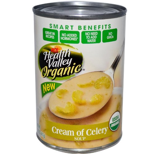 Health Valley Organic Soup, Cream of Celery, 14.5 Ounce (Pack of 12)