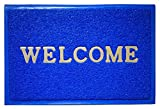 New Positive Life Blue Welcome Door Mat Trap Dirts Rub Off Clean Footwear Leg 90X60CM Big Size
