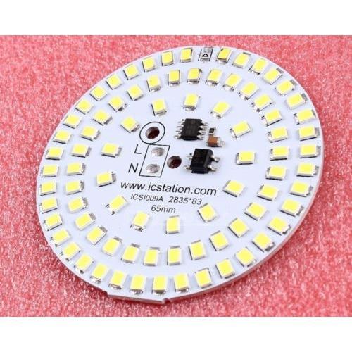 Wonderfullshop12W 2835 Warm White Led Light Emitting Diode Smd 220V 65Mm