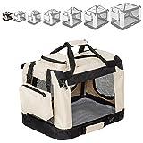 "TecTake Faltbare Hundetransportbox Transportbox beige -diverse Größen- (""S"" 50x35x35cm)"