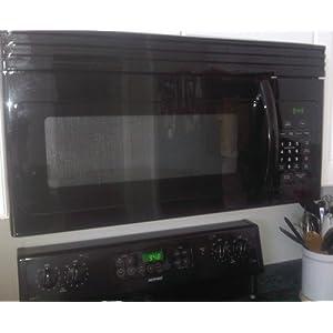 Haier HMV1630DBBB 30-inch Over-The-Range 1000 Watt Microwave, Black