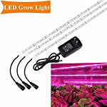 Grow Light, SOLMORE 3Pcs 1.6ft/strip LED Plant Light Flexible Soft Grow Light Strip with 2A Power Adapter for Office Home Greenhouse Hydroponics Indoor Plant Flower Seeds Growth