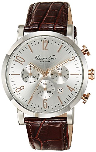kenneth-cole-mens-brown-leather-strap-silver-dial-kc10020827