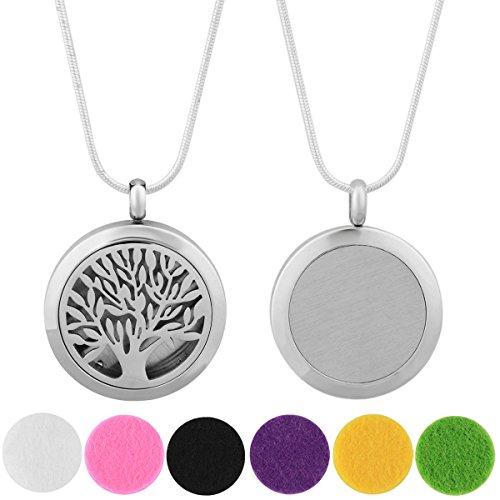 Eudora Harmony-Collana con pendente a sfera Lockets profumo di oli essenziali per aromaterapia, in argento, con 6 (24 catena 60,96 cm, colore: Multicolore, cod. X01N25A00
