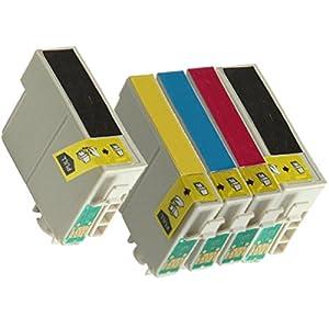 Inktoneram Remanufactured Ink Cartridges High CapacityReplacement for 127 (2xBlack, Cyan, Magenta, Yellow, 5-Pack) by JC Berg Inc