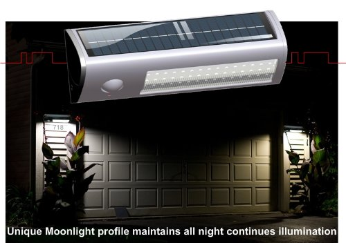 eLEDing Pure Digital Solar Powered Motion Activated 60 LED Security Flood Lights