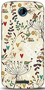 Snoogg Minimal Love Designer Protective Back Case Cover For HTC One S