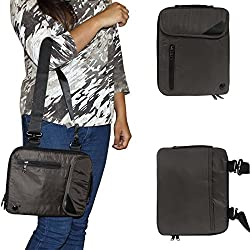 DMG Padwa Lifestyle Shockproof Soft Sleeve Carrying Vertical Messenger Nylon Bag Case with Handle and Shoulder Strap for Samsung Galaxy Tab S2 T810 9.7in Tab (Coffee)