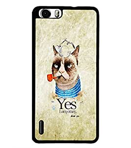 PrintDhaba Funny image D-4628 Back Case Cover for HUAWEI HONOR 6 (Multi-Coloured)