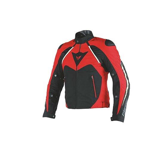 Dainese 1654580_678_48 Hawker D-Dry Veste, Noir/Rouge/Blanc, 48 cm